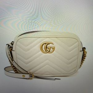 Gucci Marmont Chevron Quilted Leather Crossbody